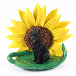Bouvier des Flandres Sunflower Figurine- click for breed options