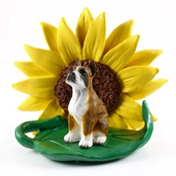 Boxer Sunflower Dog Breed Figurine- click for breed options