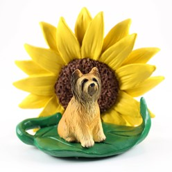 Briard Dog Breed Sunflower Figurine