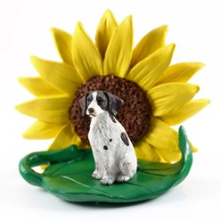 Brittany Dog Breed Sunflower Figurine- click for more breed colors