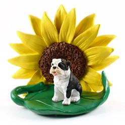 Bulldog Sunflower Dog Breed Figurine- click for more breed colors