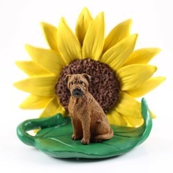 Bullmastiff Dog Breed Sunflower Figurine