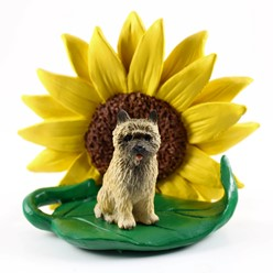 Cairn Terrier Sunflower Dog Breed Figurine- click for more breed colors