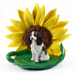 Cavalier King Charles Spaniel Sunflower Figurine- click for more breed colors
