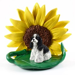 Cocker Spaniel Sunflower Dog Breed Figurine- click for more breed colors