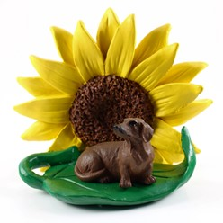 Dachshund Sunflower Dog Breed Figurine- click for more breed options