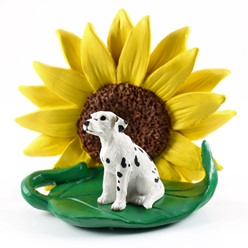 Dalmatian Sunflower Dog Breed Figurine