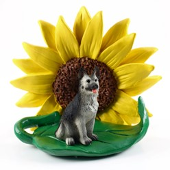 German Shepherd Sunflower Dog Breed Figurine- click for more breed colors