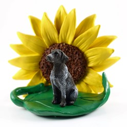 German Shorthaired Pointer Dog Breed Sunflower Figurine