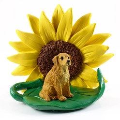 Golden Retriever Sunflower Dog Breed Figurine