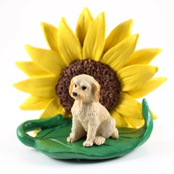 Labradoodle Sunflower Dog Breed Figurine- click for more breed colors