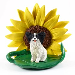 Papillon Sunflower Dog Breed Figurine- click for more breed colors
