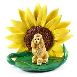Poodle Sunflower Dog Breed Figurine- click for more breed options