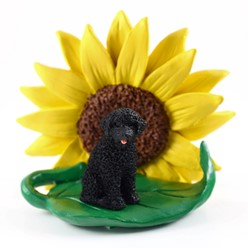 Portuguese Water Dog Sunflower Dog Breed Figurine