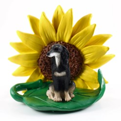 Saluki Sunflower Dog Breed Figurine