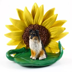 Shetland Sheepdog Sunflower Dog Breed Figurine- click for more breed colors