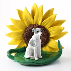 Whippet Sunflower Dog Breed Figurine- click for more breed colors