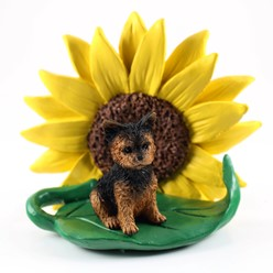 Yorkshire Terrier Sunflower Dog Breed Figurine- click for breed options
