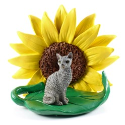 Cornish Rex Sunflower Cat Figurine- click for more breed colors