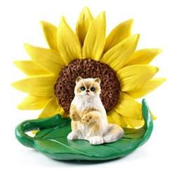 Ragdoll Sunflower Cat Figurine