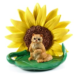 Persian Sunflower Cat Figurine- click for more breed colors