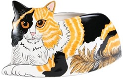 Calico Cat, Patches Rescue Me Now, Planter Vase
