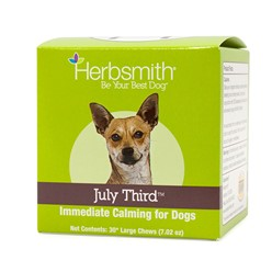 Herbsmith July Third Immediate Calming Supplement 30 ct Large Chews
