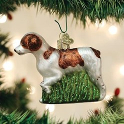 Brittany Spaniel Old World Christmas Ornament
