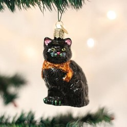 Black Kitty Old World Ornament