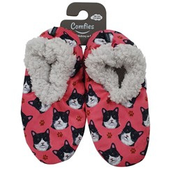 Black and White Cat Print Comfies Slippers