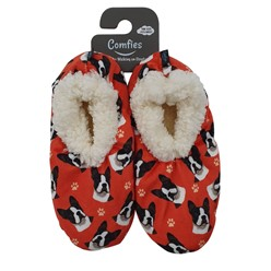 Boston Terrier Comfies Dog Print Slippers