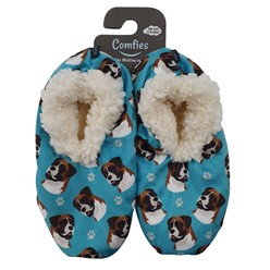 Boxer Comfies Dog Print Slippers