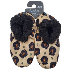 Dachshund Black Comfies Dog Print Slippers