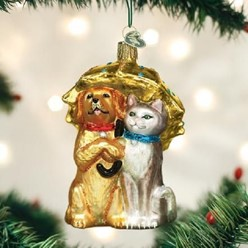 Raining Cats and Dogs Old World Christmas Ornament