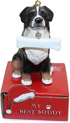 Bernese Mountain Dog My Best Buddy Christmas Ornament