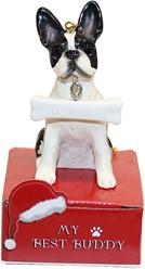 Boston Terrier My Best Buddy Christmas Ornament