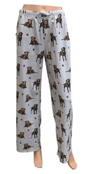 Chocolate Labrador Retriever PJ  Bottoms