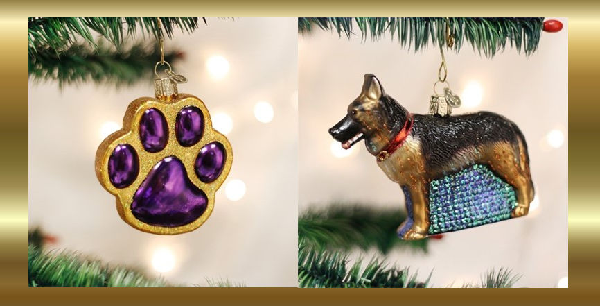 Old World Christmas Dog Ornaments