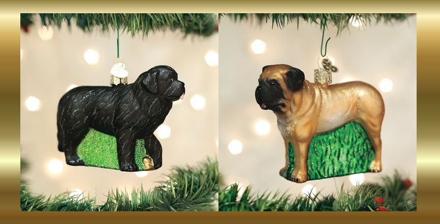 Old World Christmas Dog Breed Ornaments