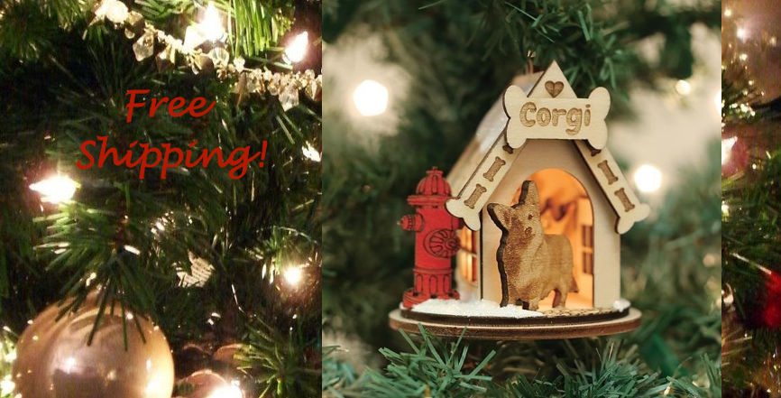 Old World Christmas K9 Cottage Ornament