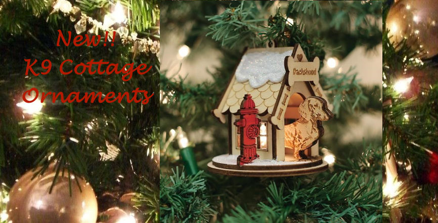 Old World Christmas Dachshund K9 Cottage Ornaments
