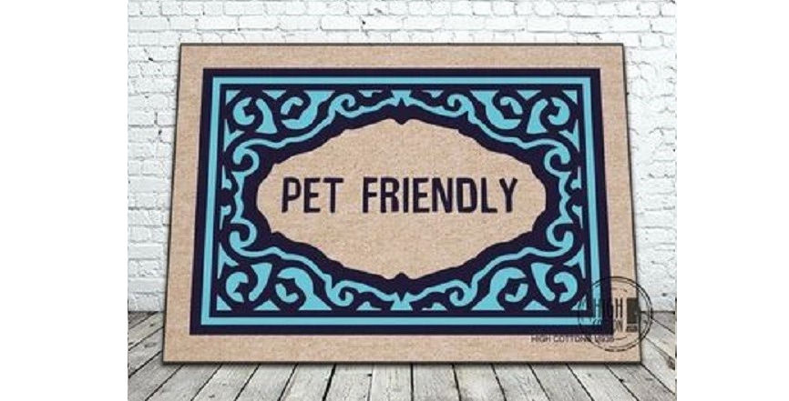 Pet friendly dog and cat door mat