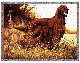 Irish Setter Woven Throw Blanket
