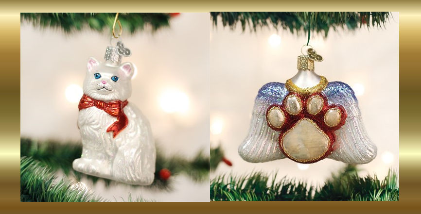 Old World Christmas Cat Ornaments